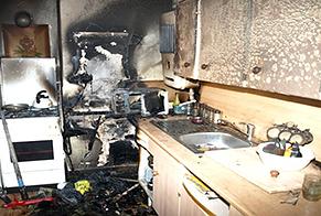 vyhořelý byt